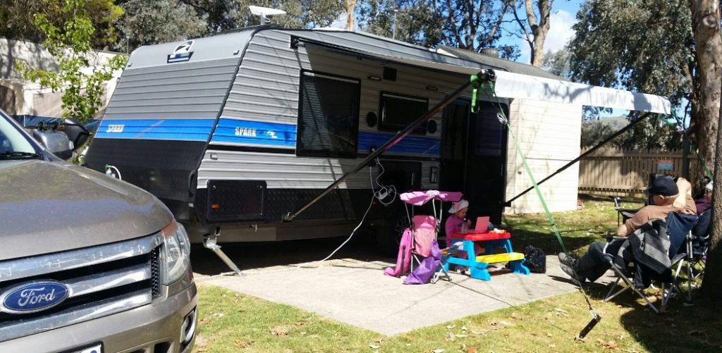Family Caravan Happy Customer Spark Caravan